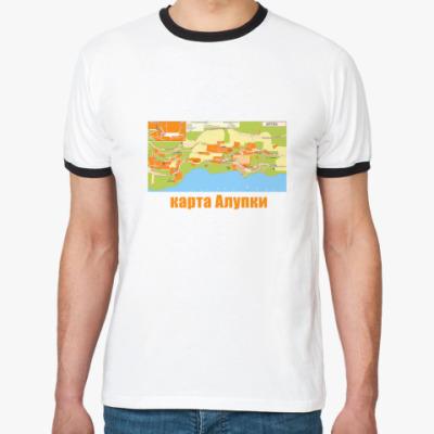 Футболка Ringer-T футболка с картой Алупки