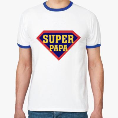 Футболка Ringer-T Супер папа