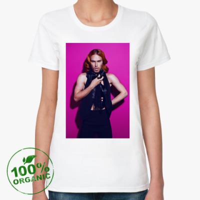 Женская футболка из органик-хлопка Из серии 'GlamRock'.