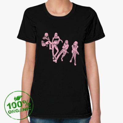 Женская футболка из органик-хлопка Black Pink