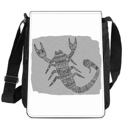 Сумка-планшет Самый стильный скорпион