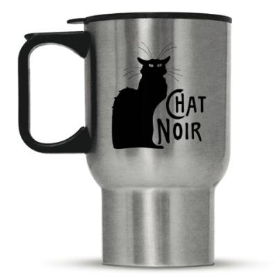 Кружка-термос Чёрный кот
