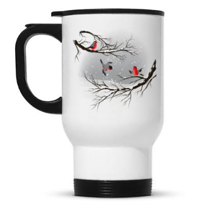 Кружка-термос Снегири
