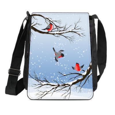 Сумка-планшет Снегири