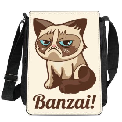 Сумка-планшет Угрюмый кот Тард - Grumpy Cat