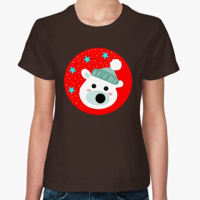 Женская футболка Полярный медведь