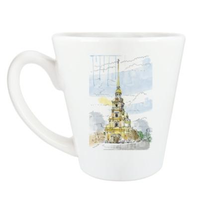 Чашка Латте Петропавловская крепость