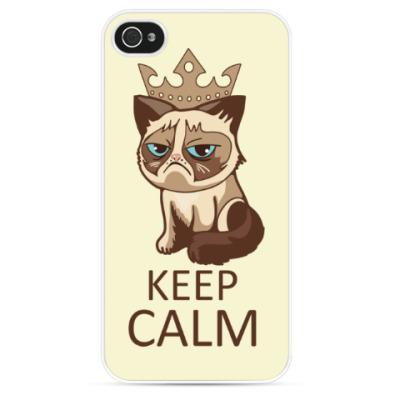 Чехол для iPhone Угрюмый кот Тард - Grumpy Cat