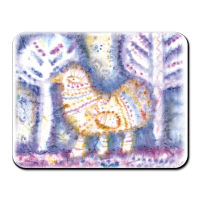 Коврик для мыши  Птица. Зима.