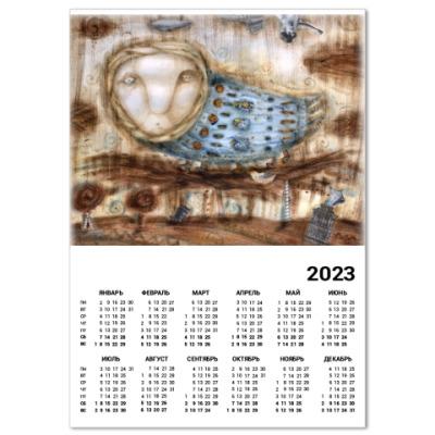 "Календарь  A4  ""Птица"""