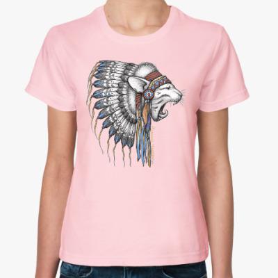 Женская футболка Йошкин Чингачгук