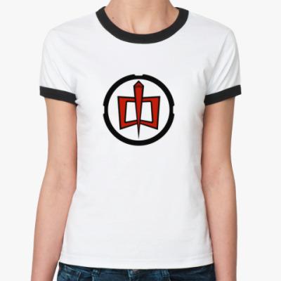 Женская футболка Ringer-T  'American Hero'