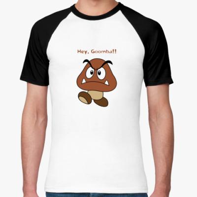 Футболка реглан Hey, Goomba!!