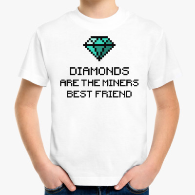 Детская футболка Minecraft - diamonds