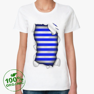 Женская футболка из органик-хлопка Моряк