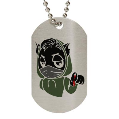 Жетон dog-tag Черный кот ассасин