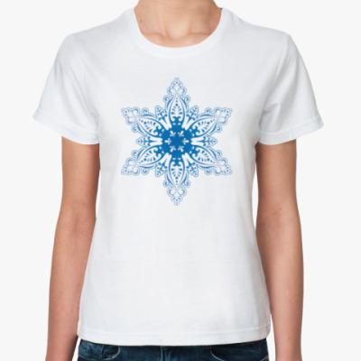 Классическая футболка Снежиночка