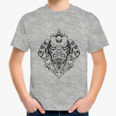 Детская футболка Восточный тату дракон