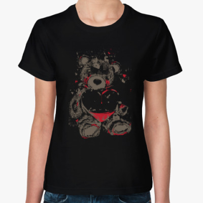 Женская футболка Медведь и сердце