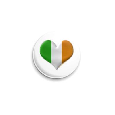 Значок 25мм 'Я люблю Ирландию!'