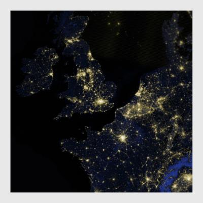 Постер Огни Лондона из космоса