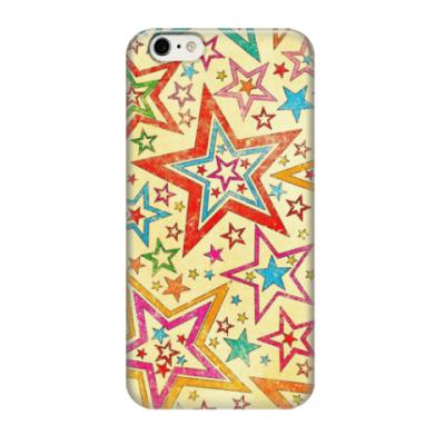 Чехол для iPhone 6/6s Разноцветные звездочки