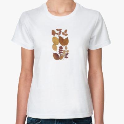 Классическая футболка Осенние листья