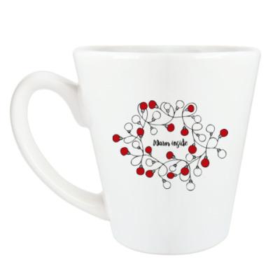 Чашка Латте Новогодняя гирлянда