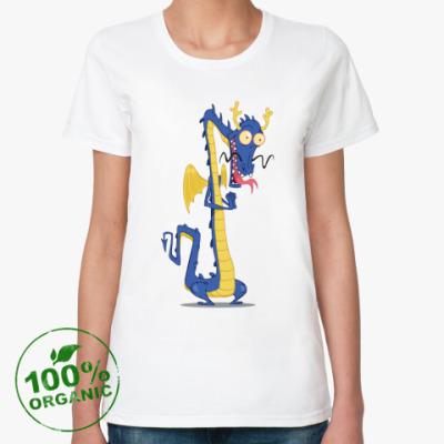 Женская футболка из органик-хлопка Восточный дракон