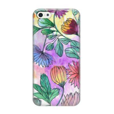 Чехол для iPhone 5/5s Цветочный принт