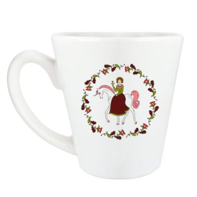 Чашка Латте Русский орнамент / Russian folk ornament