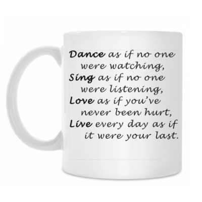 Кружка Dance Sing Love Live