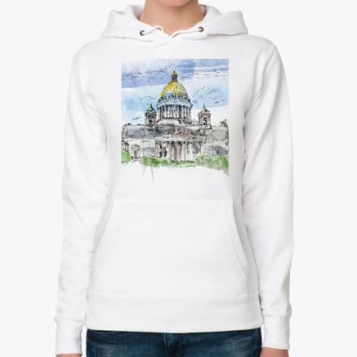 Женская толстовка худи Исаакиевский собор - Питер