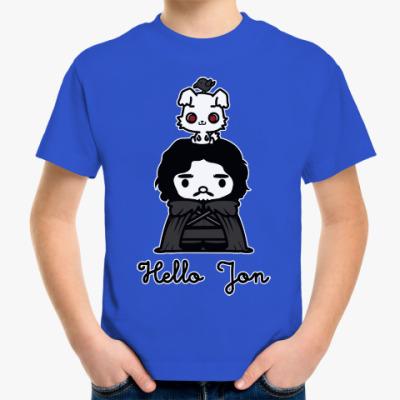 Детская футболка Hello Jon