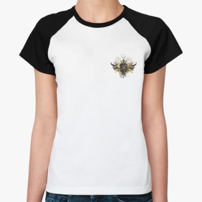 Женская футболка реглан Личный герб