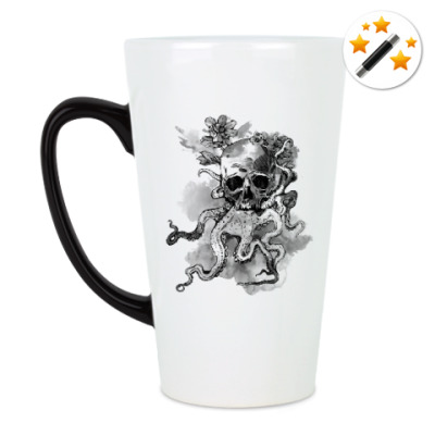 Кружка-хамелеон Череп-кальмар