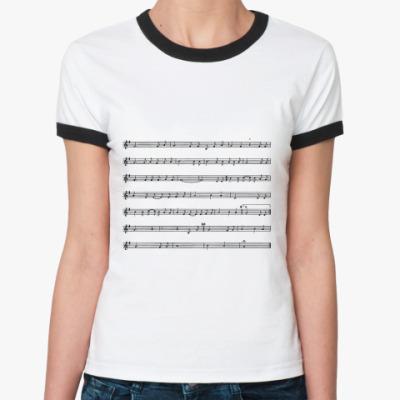 Женская футболка Ringer-T НОТЫ