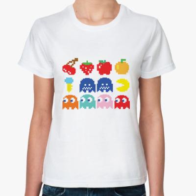 Классическая футболка Pac-Man / PacMan / ПакМан