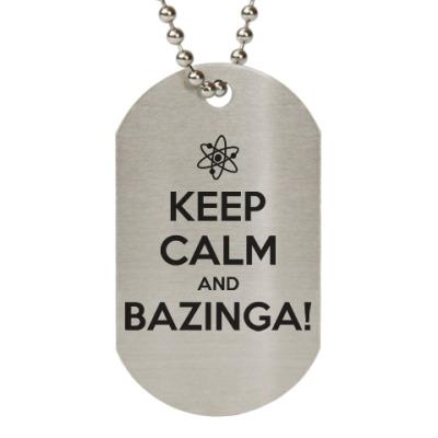 Жетон dog-tag  BAZINGA!