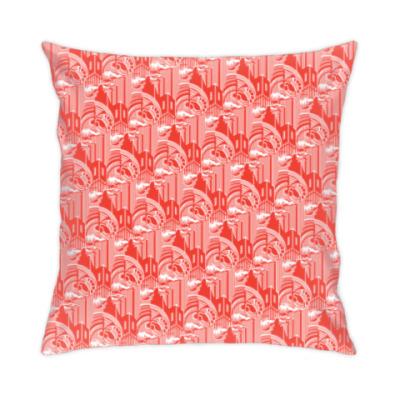 Подушка «Завод», агитационный текстиль