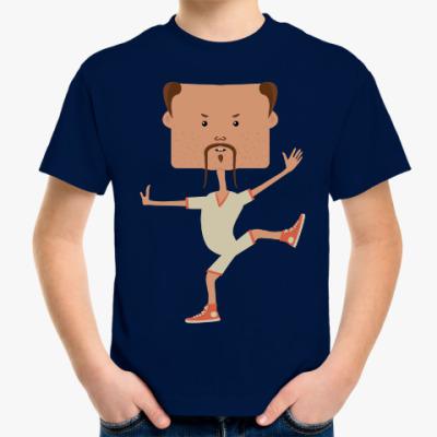 Детская футболка Смешной нарисованный каратист