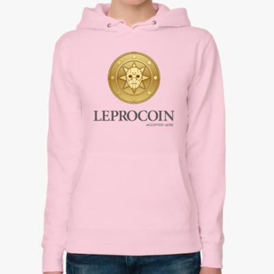 Женская толстовка худи Leprocoin