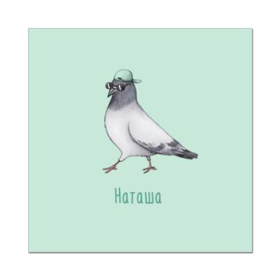 Наклейка (стикер) Наташа голубь