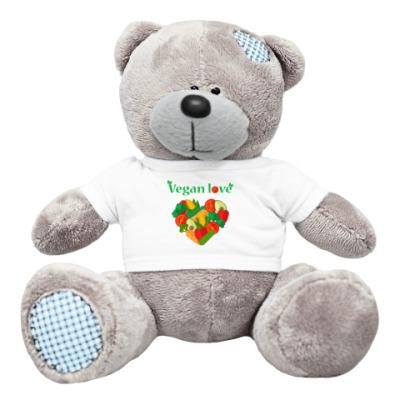 Плюшевый мишка Тедди Vegan love