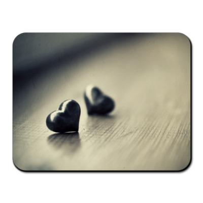 Коврик для мыши Две сердца