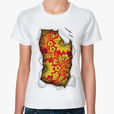 Классическая футболка  'Русский орнамент'
