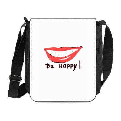 Сумка на плечо (мини-планшет) Будь счастлив !