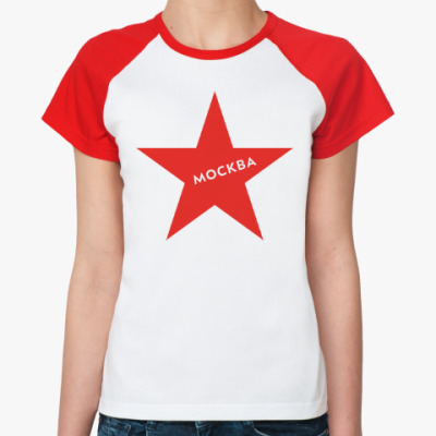 Женская футболка реглан логотип Москвы