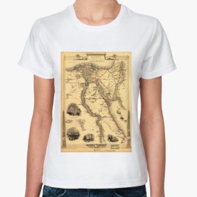 Классическая футболка старинная карта