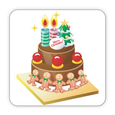 Костер (подставка под кружку) Рождественский торт